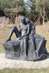 石雕雕的非洲少女