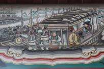 彩色房梁画三国水军