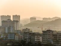 黄昏下的惠州市区