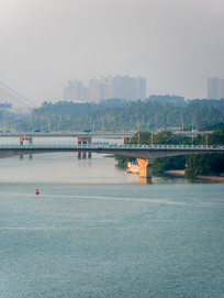 惠州大桥与合生大桥局部特写