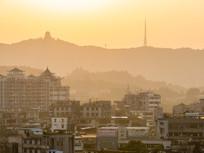 惠州老城区的黄昏景色