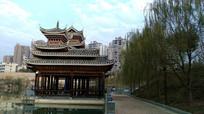 黎平萨玛园里的侗族建筑