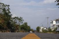 拍摄山村道路