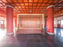 合江楼大厅的苏东坡书法屏风