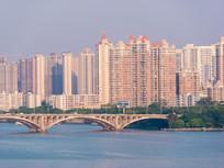 惠州东江大桥与各住宅楼盘