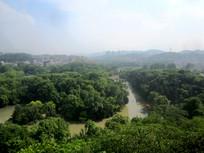 鸟瞰花溪湿地公园