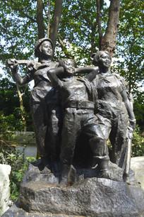 二十世纪知识青年雕塑