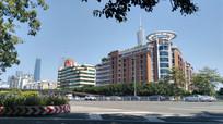 公路高楼城市风景