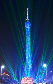 广州塔灯光夜景