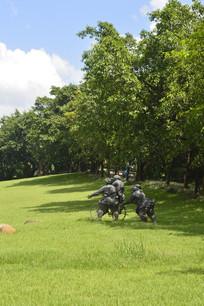 雕塑树木晴空