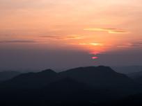 高榜山傍晚景色