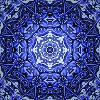 深蓝色花纹