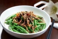 笋干菜烧四季豆