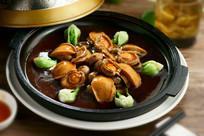 鲜蘑菇炖大连鲍