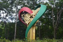 心形雕塑作品