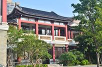 红色宫殿古建筑风景
