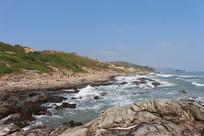 惠东黑排角海岸线礁石