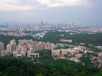 惠州城市市区天际线景观