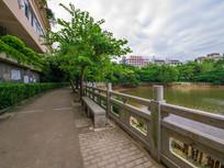 惠州西湖丰湖湖边的走廊
