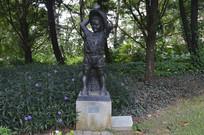 矿工自有后来人矿工儿子雕塑