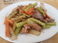 芹菜炒肉中国菜
