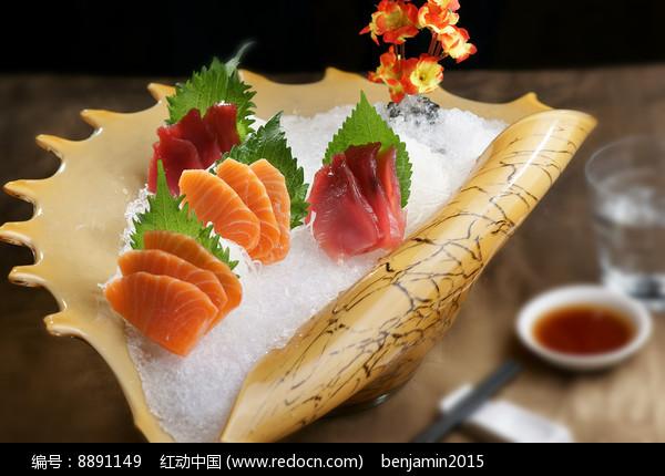 三文鱼北极贝刺身图片