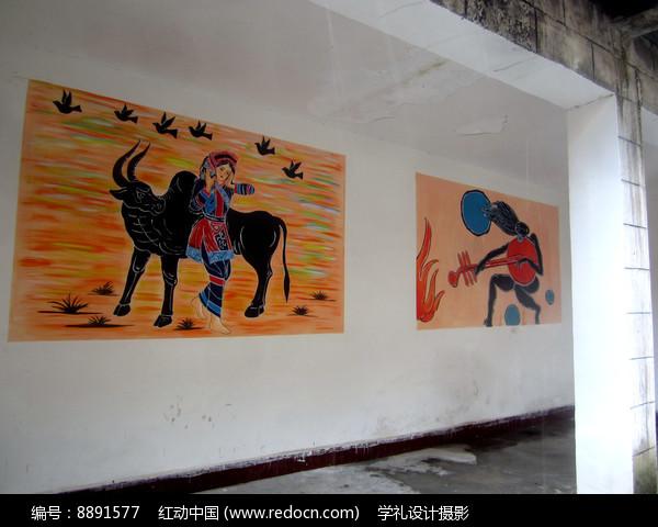 少数民族绘画图片