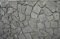 石块堆砌的墙壁背景图