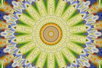 寺庙装饰色彩花纹