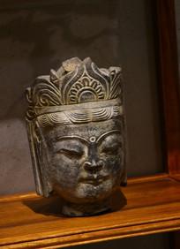 铜塑菩萨头像