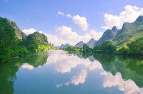 秀丽山水画风景