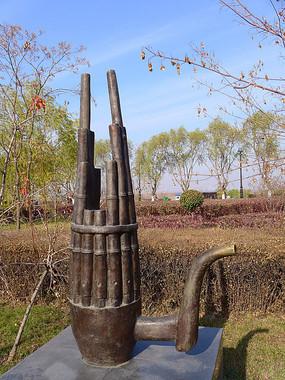 中国古代发明乐器笙雕塑