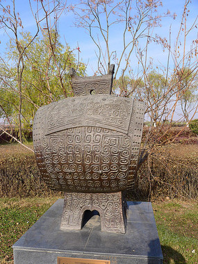 中国古代发明乐器鼓雕塑