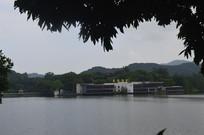 广州麓湖公园阴天远景