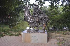 广州西关风情鸡公榄人物雕塑