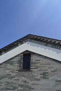古建筑青砖墙