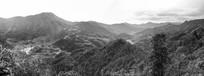 黑白婺源从峦山川