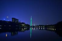 美丽的广州塔夜景