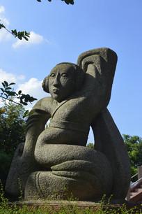 西舞人古代女子雕塑