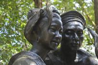 瑶族自治州人雕塑特写