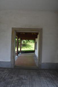 中式复古书廊走廊