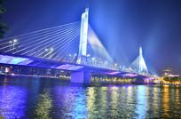 广州海印桥灯光夜景