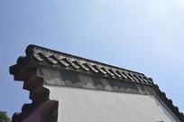 岭南建筑墙头屋檐檐角