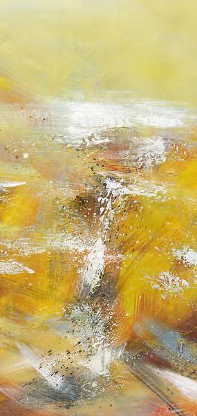竖版玄关抽象油画