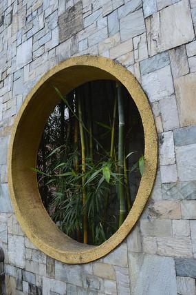 中式框景景墙图片