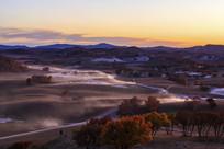 东沟乌兰布统秋季的草原美景