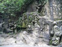 各种僧人雕刻