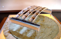 拱形桥梁厂房机场模型框架空间