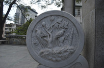 花鸟植物浮雕