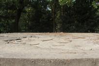 钱塘江旁破旧平房屋顶